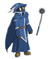 """Odell the """"Dark Blue Mage"""" by ShadowScarKnight"""