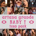 Ariana Grande Baby I Icon Pack by fairylighticons