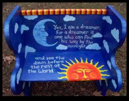 Dreamer Bench by ReincarnationsDotCom