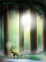 The Forest Walker or Deer God by icjaker