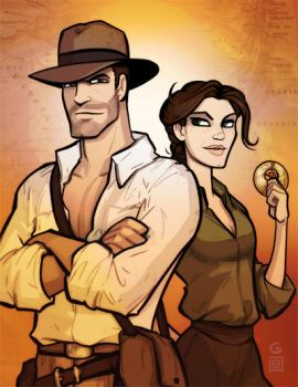 Indy and Marion by grantgoboom