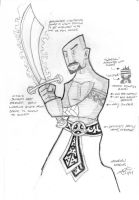 Aakabian Warrior - Sketch by scruffyzero