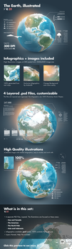 Earth Illustrated, 3D World and Infographics - V1 by Giallo86