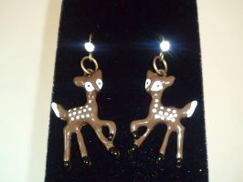 Little Deer Earrings by MysticalMayhemJewel