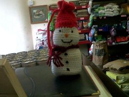 xmas snowman bag by cted5692