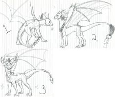 Dragon Adopt sketches-GONE by Madsters