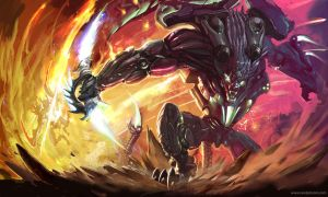 Mecha Rengar for LOL Illustration competition by Ryonok