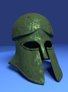 Corinthian style Greek helmet by rilargo