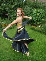 Black Belly Dance Dress (update) 2 by Philosopher-Vinni