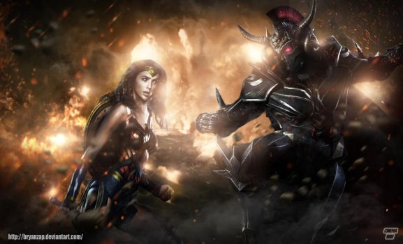 Wonder Woman Vs Ares by Bryanzap
