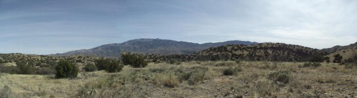 Santa Rita Mountain panorama by FYREGOD