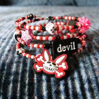 SkeleBunny Beaded Bracelet by SugarAndSpiceDIY