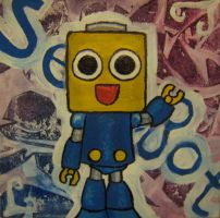Servbot Painting by paintmeaperfectworld