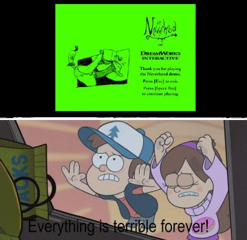 Dipper and Mabel Reacts to Reduced Game Version by hrdeviantart