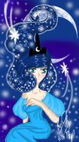 Young goddess of the Moon by GalaxySultan