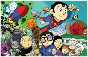 Superman Family Chibi by Sideways8Studios