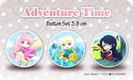Adventure Time - button set by Ninamo-chan