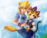 Catboy Yami and Dogboy Joey by KrazyPerson