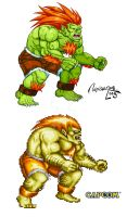 BLANKA: STREET FIGHTER II by viniciusmt2007