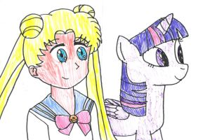Usagi and Twilight together by SuperMarcosLucky96