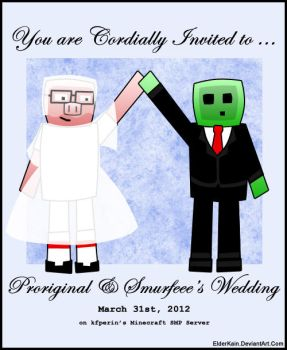 Minecraft - Proriginal and Smurfeee Invitation by ElderKain