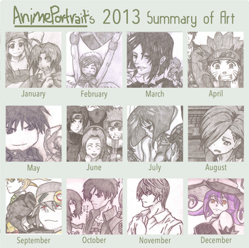 2013 Summary Of Art by AnimePortraits