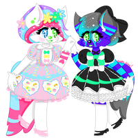 Furry commission for Kyrah and Dawn! by audra-hime