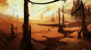 Desert City Speed Paint by ShinoShoe26