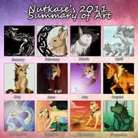 Summary of Art 2011 by The-Nutkase