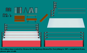 Wrestling Ring Updated by akumath