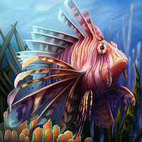 LionFish digital large by charfade