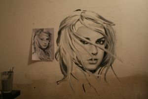 Britney - wall painting 2 by tomstephenson672