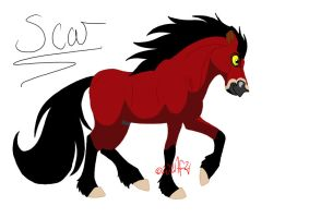 Scar makes a pretty Horsey by StarCrossedPsycho