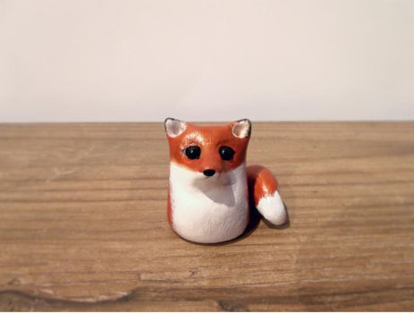 Little red fox sculpture SOLD by MyselfMasked