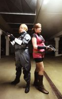 Leon and Claire - Resident Evil 2 Cosplays by ChaoticClaire