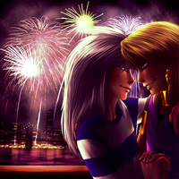 Thiefshipping - Fireworks by AngelLust155
