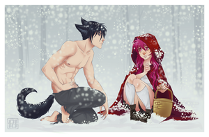 Snowy First Date by PaolaPieretti