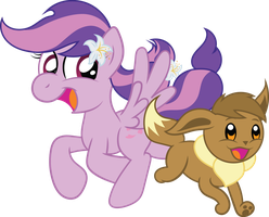Request:  Moonlight Blossom and Eevee by T-3000