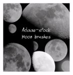 Moon brushes by Adaae-stock