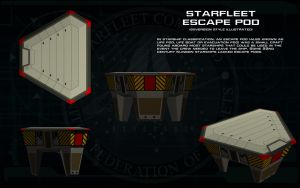 Starfleet Escape Pod [generic] ortho by unusualsuspex