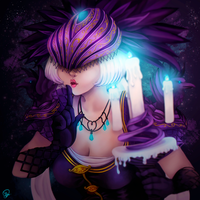 Smite's Nox - Fan art by Myodora