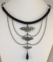 Elegant Darkness Viking Knit Chainmaille Necklace by ArmouredWolf907