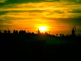 Sunset in Marrakech by serefisler