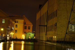 Norrkoping by night2 by DreamerArtworx
