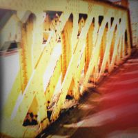 Holga Print 11 - Footbridge by uselessdesires