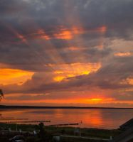 Sunset over the Baltic Sea by BSOD90