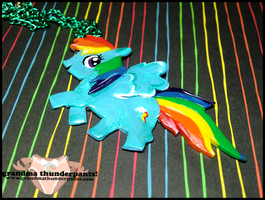 Rainbow Dash Necklace by GrandmaThunderpants