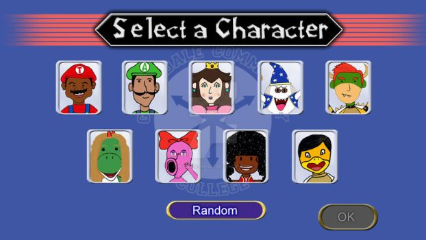 Greendale Party Character Screen by puzzlesandpizza