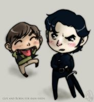 Guy and Robin chibis by cesca-specs
