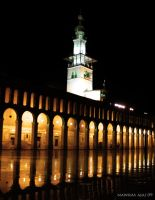 omayyad mosque night by nawrasajaj